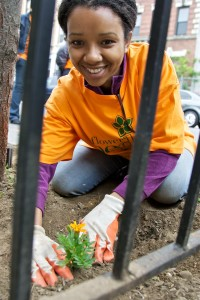 Flower-Bed-Stuy (girl planting flower)