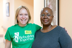 Kimberly George, Executive Director of Rebuilding Together NYC (left), and Michele Grimes, Direcor of Senior Services at Bridge Street